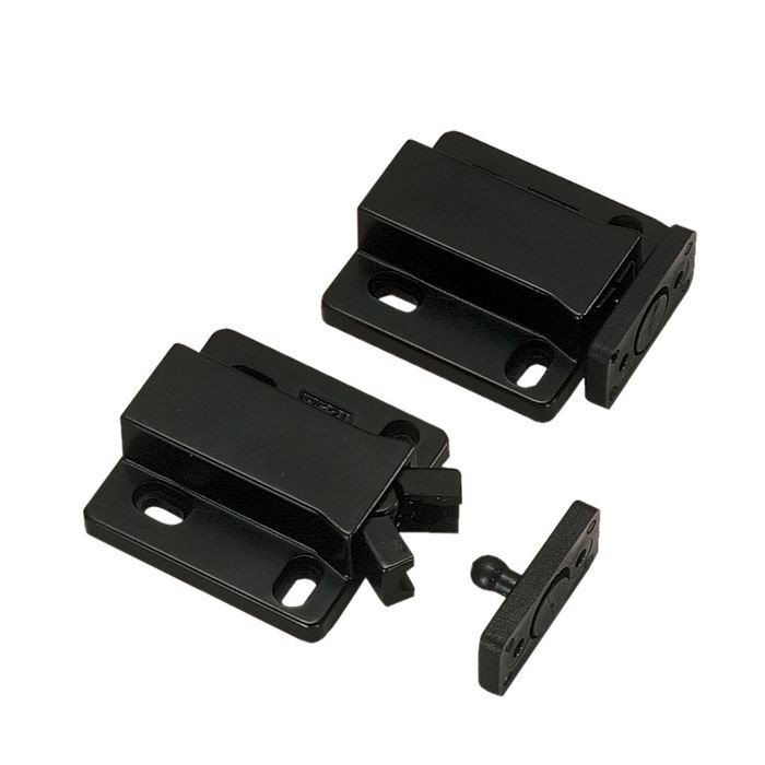 "1-29/64"" Long Black ABS Non-Magnetic Touch Latch"