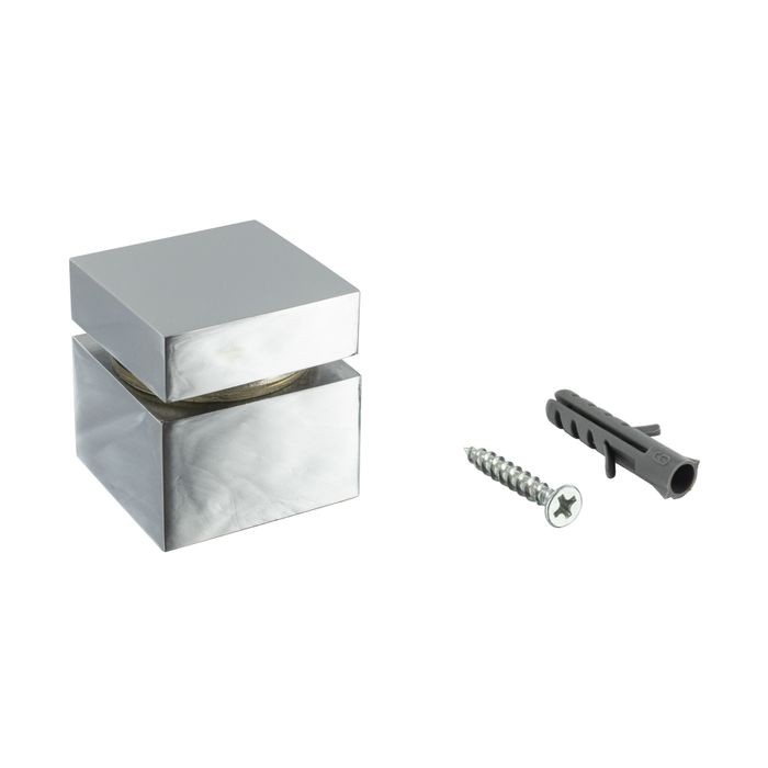 1-1/4in Sq x 3/4in Barrel Length | Polished Chrome Finish | Euro Square Easy Fasten Standoff
