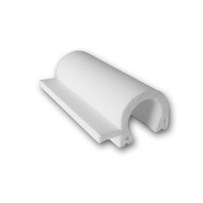 "Orac Decor | High Impact Polystyrene Panel/Chair Rail/Wainscot Moulding | Primed White | 4"" Sample Piece 