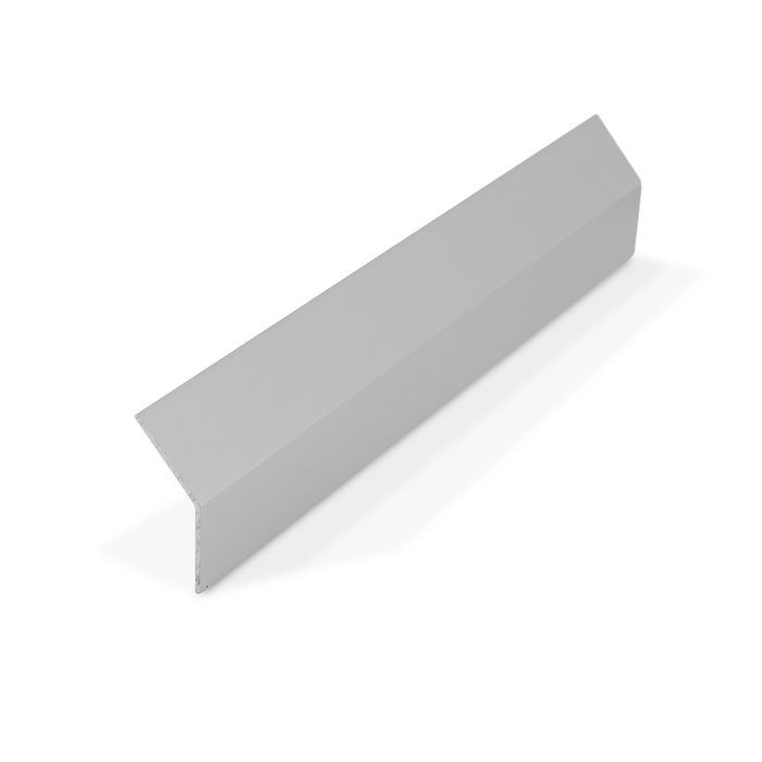 "1"" x 1"" x 1/16"" Thick Clear Anodized (Satin) Finish Aluminum Even Leg Angle Moulding 12' Length"