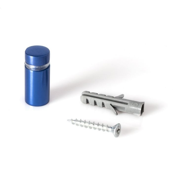 1/2in Dia x 3/4in Barrel Length | Blue Aluminum | Eco Series Easy Fasten Standoff