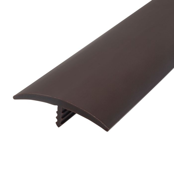 1-1/2in 742 Angola Brown Flexible Polyethylene | Center Barb Tee Moulding | 250ft Coil