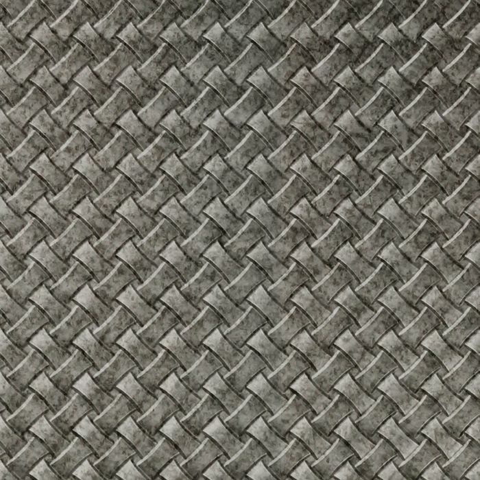 10' Wide x 4' Long Celtic Weave Pattern Galvanized Finish Thermoplastic Flexlam Wall Panel
