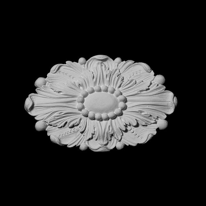 "10-3/4"" Wide x 7"" High Unfinished Polymer Resin Rosette"