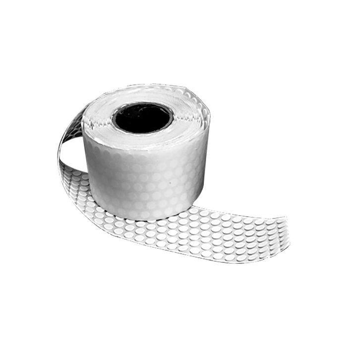 "1/2"" Diameter x 1/16"" Thick White Adhesive Dot"