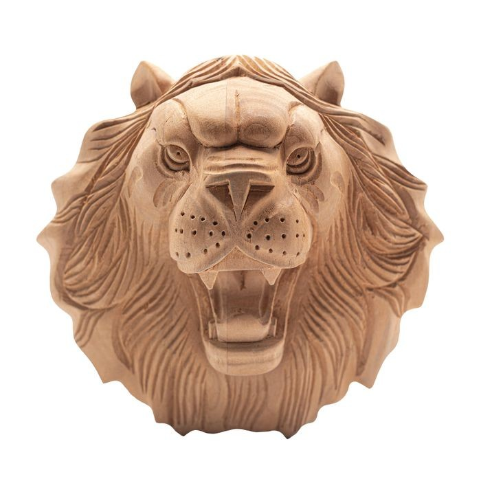 Hand Carved Unfinished | Solid North American Hardwood | Rosette Applique | RWC04 Series