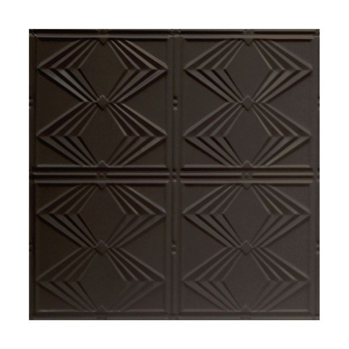 Tin Plated Stamped Steel Ceiling Tile | Nail Up/Glue Up Ceiling Tile | 2ft Sq | Bronze Finish