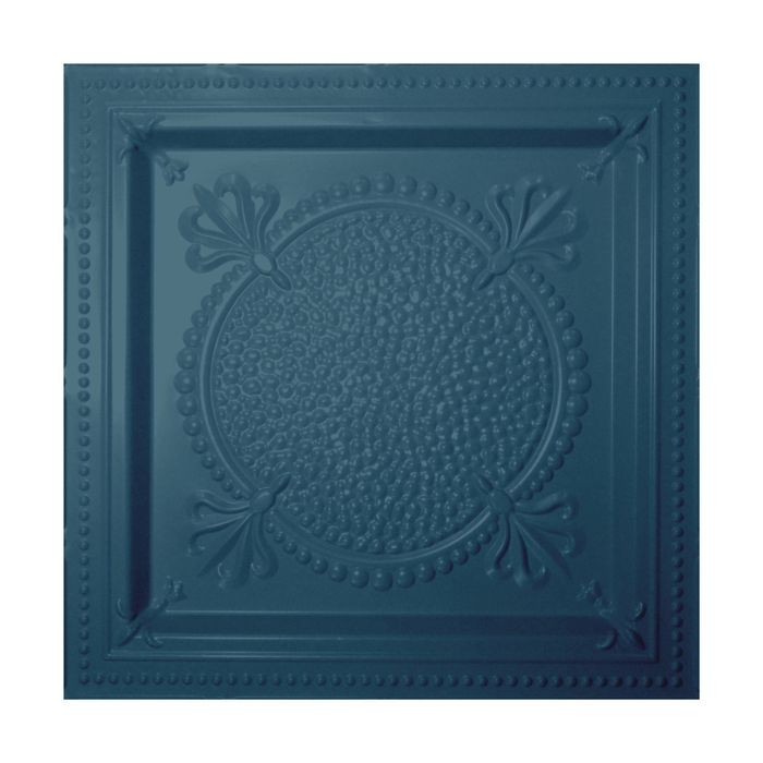Tin Plated Stamped Steel Ceiling Tile | Lay In | 2ft Sq | Midnight Blue Finish