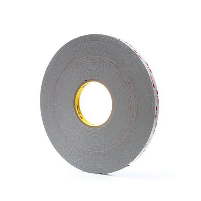 "1"" Wide x .045"" Thick Grey 3M VHB Acrylic Foam Tape 108' Long Roll"