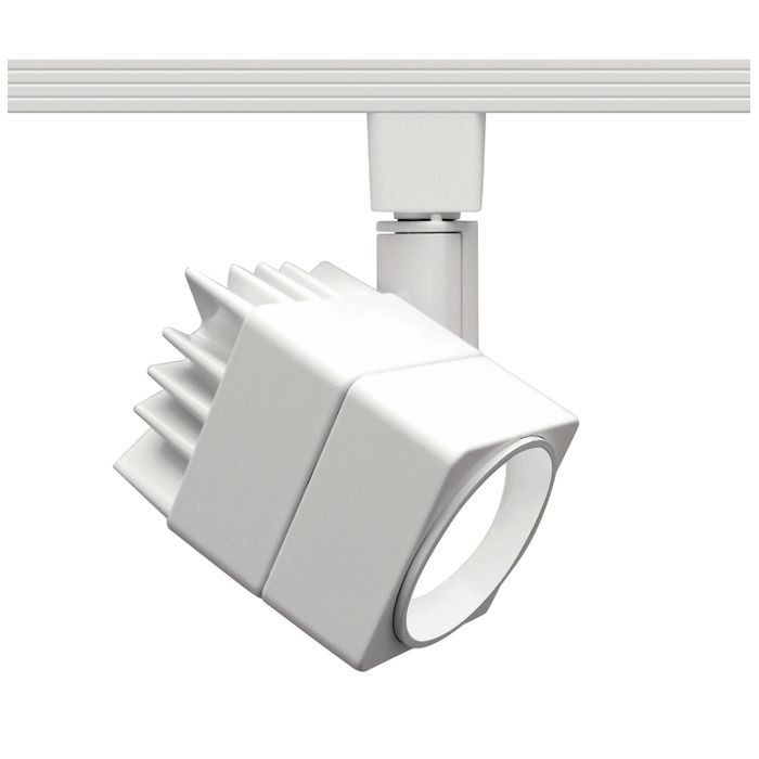 Summit 207 Led Track Lighting Head Warm White 3000k 15 Watts 750 Lumens Per Fixture Etl 120v In A White Finish