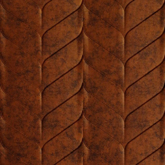 10' Wide x 4' Long Ariel Pattern Moonstone Copper Finish Thermoplastic Flexlam Wall Panel