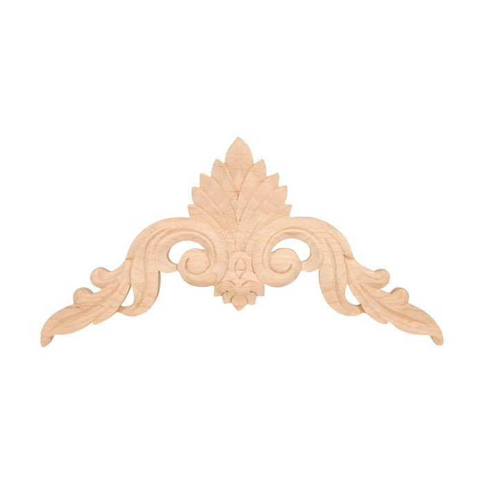 10-7/8in W x 5-1/2in H | Hand Carved | Solid North American Alder Cartouche Applique | RWC23 Series