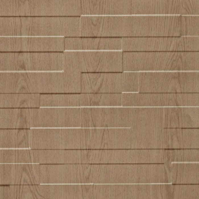 10' Wide x 4' Long Tetrus Pattern Washed Oak Finish Thermoplastic Flexlam Wall Panel