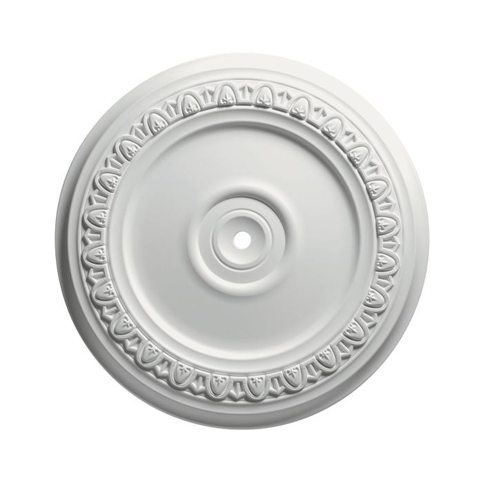 Focal Point | 24-7/16in Dia | Primed White Polyurethane | Decorative Ceiling Medallion