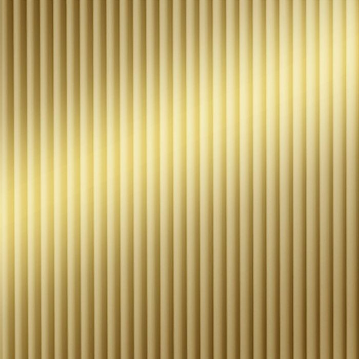 FlexLam 3D Wall Panel | 4ft W x 10ft H | Rib2 Pattern | Mirror Gold Finish