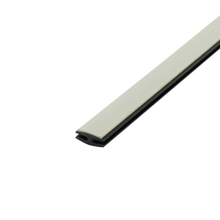 1/16in Black Rigid PVC | Divider Moulding With Adhesive | 8ft Length