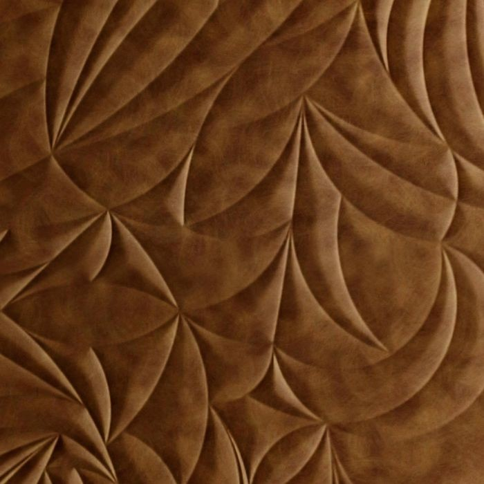 10' Wide x 4' Long Sculpted Petals Pattern Antique Bronze Finish Thermoplastic Flexlam Wall Panel