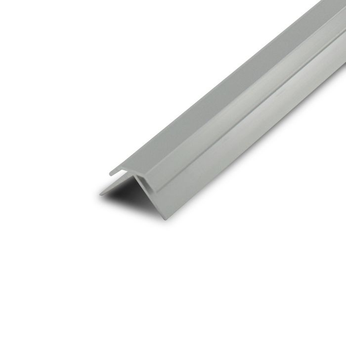 1/16in Mechanical Polished Finish Aluminum | 90 Degree Outside Corner Channel | 12ft Length