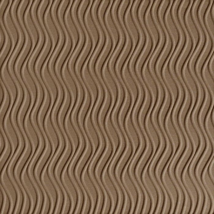 10' Wide x 4' Long Wavation Pattern Argent Bronze Vertical Finish Thermoplastic Flexlam Wall Panel