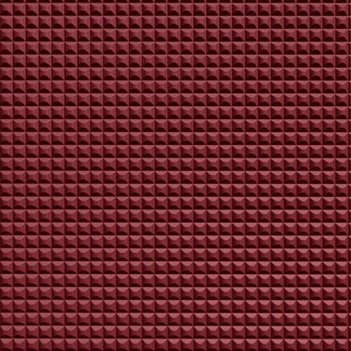 FlexLam 3D Wall Panel | 4ft W x 10ft H | Chocolate Square Pattern | Merlot Finish