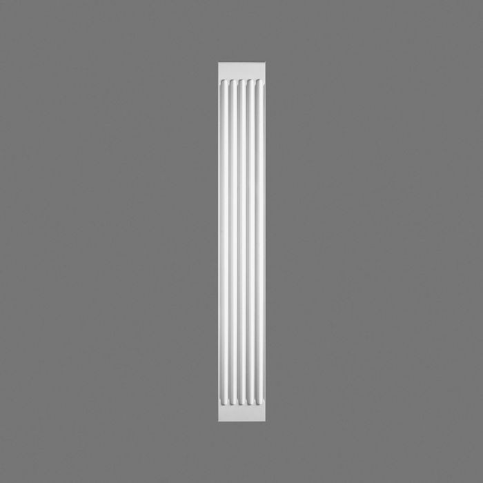 "Orac Decor | High Density Polyurethane Foam Pilaster | Primed White | 10-5/8in W x 78-3/4"" Long"