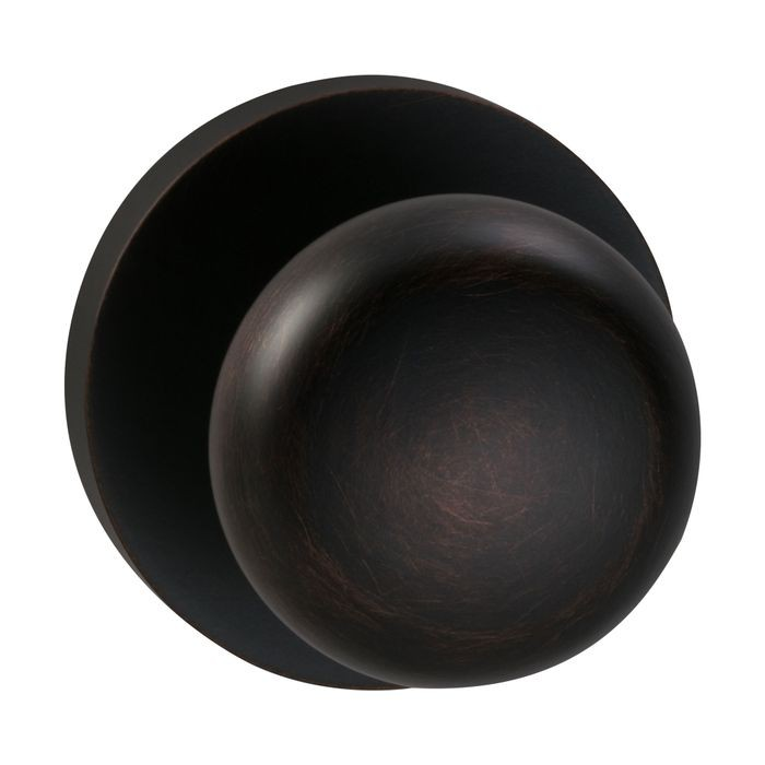 Tuscan Bronze Modern Rose Backplate Interior Privacy Knob Latchset