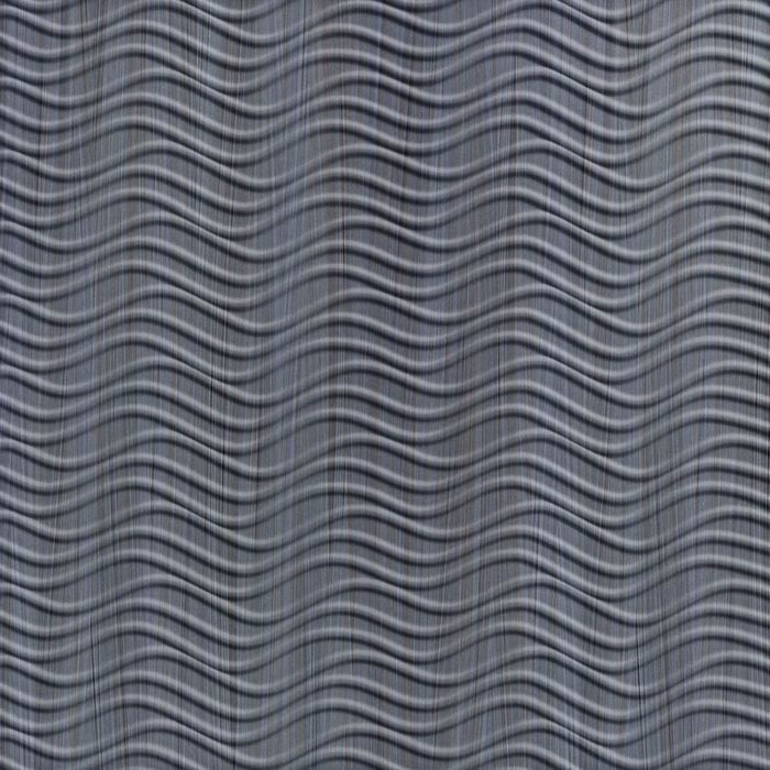 FlexLam 3D Wall Panel | 4ft W x 10ft H | Wavation Pattern | Steel Strata Finish