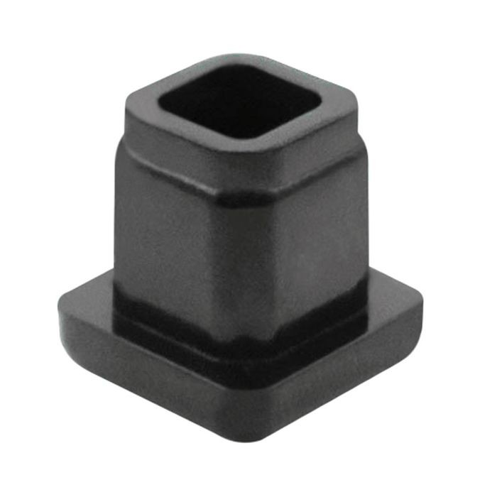 1/2in Sq | 16 Gauge Black Matte Finish ABS | Plastic Inside End Cap for Tubing