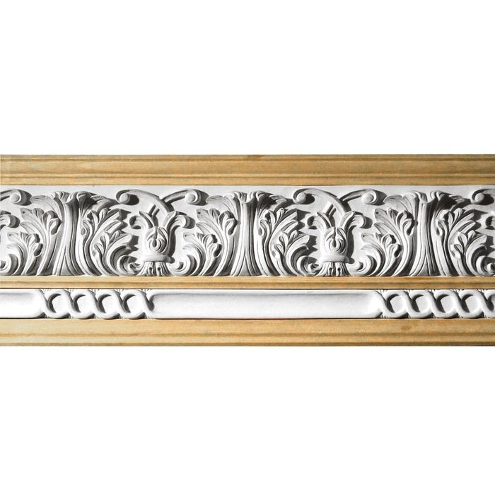 10in H x 1-1/2in Proj | Unfinished Polymer Resin | 480-C Series with Bottom Style 3 | Frieze Moulding | 5ft Long