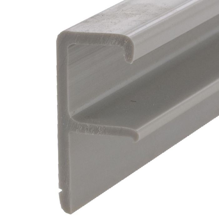 "Silver Grey Ext Pull Handle Stapled Type For 5/8""B 12ft"