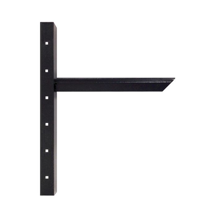 12in x 20in | Powder Coated Black Finish | Hidden Steel Countertop Support Bracket