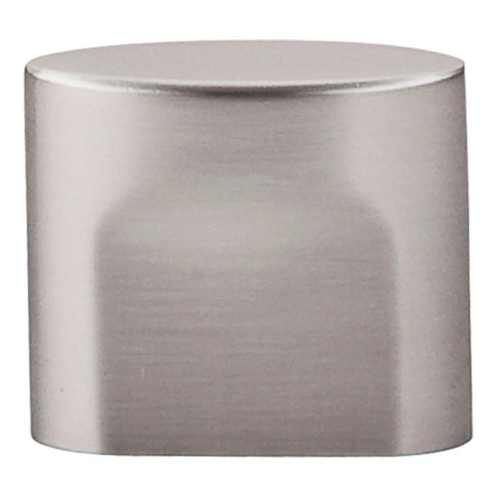 "Small Oval Slot Knob 3/4"" Cc Brushed Satin Nickel"