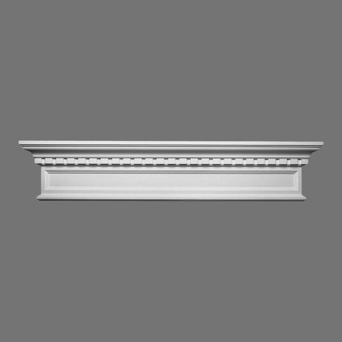 Orac Decor | High Density Polyurethane Door Header | Primed White | 9-7/8in H x 48-7/8in W