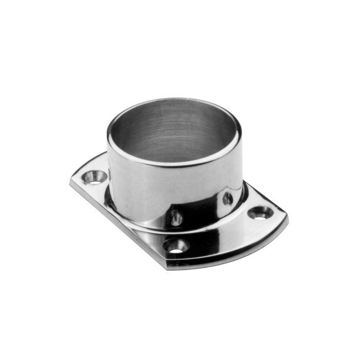 "1-1/2"" Diameter Polished Stainless Steel Finish Flange"