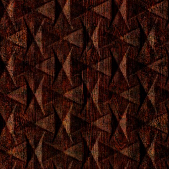 FlexLam 3D Wall Panel | 4ft W x 10ft H | Bowtie Pattern | African Cherry Finish
