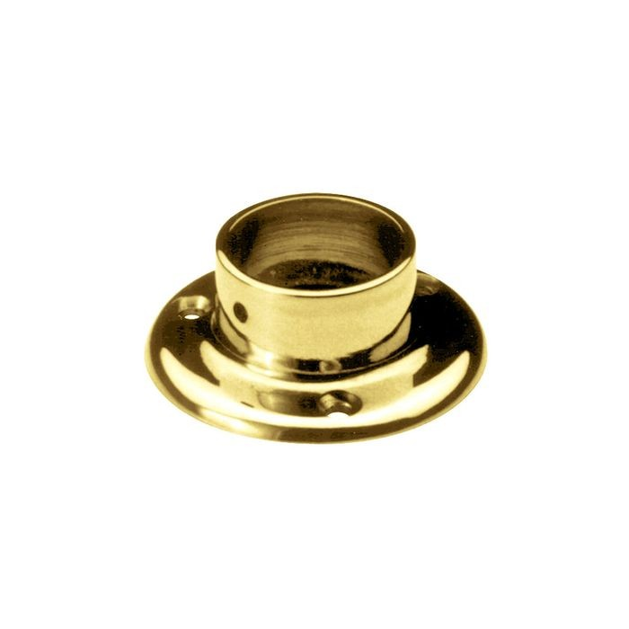 1-1/2in Dia x 1-3/16in H | Polished Brass Finish | Flange | S82-219 Series