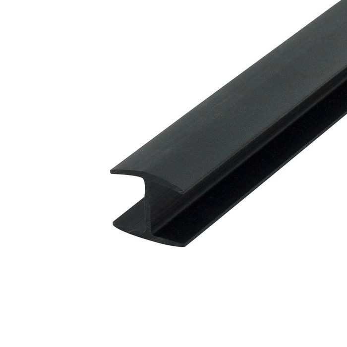 1/2in Black Styrene | Divider Moulding | 8ft Length