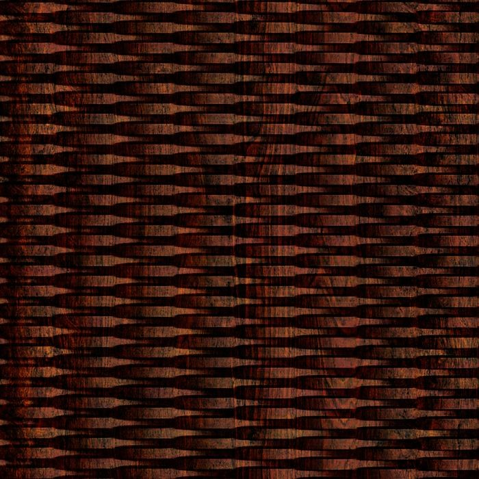 10' Wide x 4' Long Interlink Pattern African Cherry Finish Thermoplastic Flexlam Wall Panel