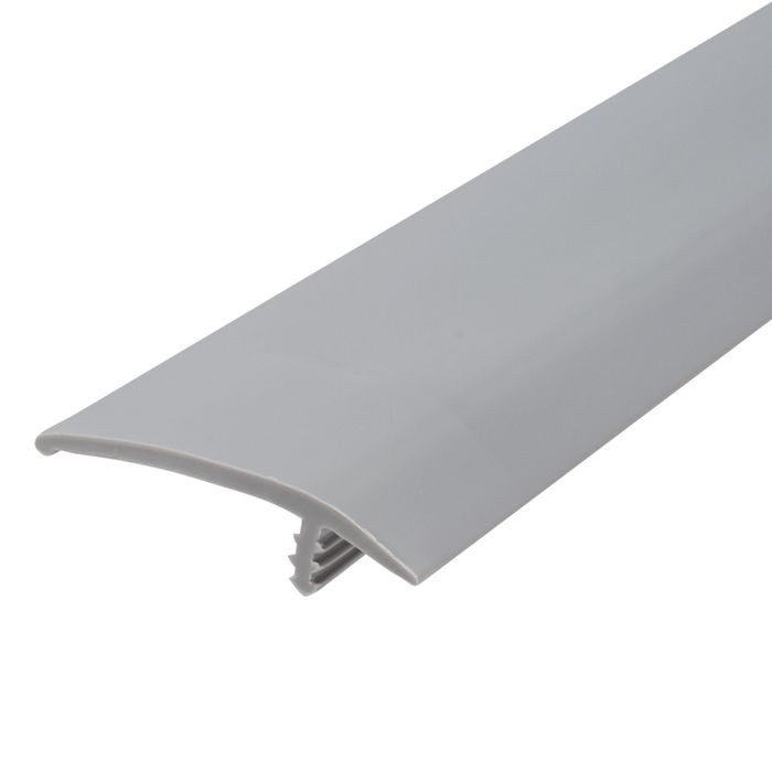 1-1/2in 125 Dove Gray Flexible Polyethylene | OffsetBarb Tee Moulding | 250ft Coil