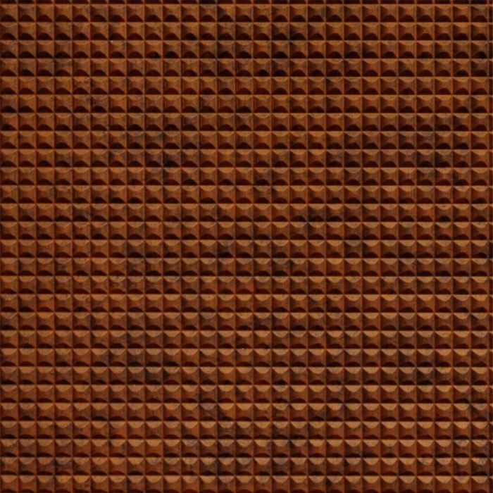FlexLam 3D Wall Panel | 4ft W x 10ft H | Chocolate Square Pattern | Moonstone Copper Finish