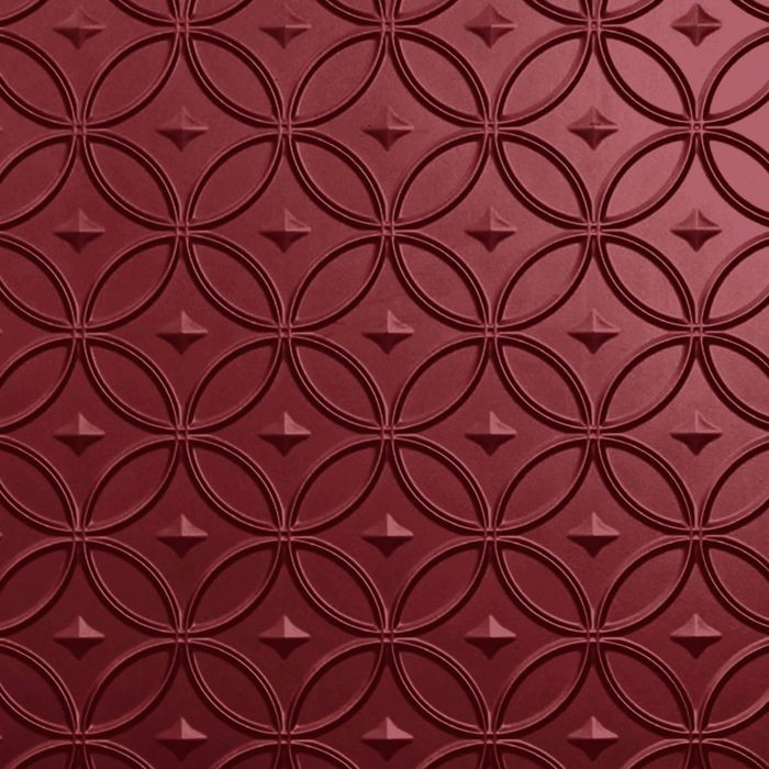 10' Wide x 4' Long Celestial Pattern Merlot Finish Thermoplastic Flexlam Wall Panel