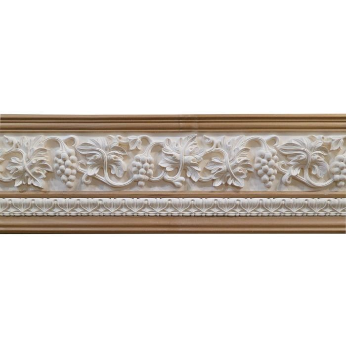 10in H x 1-1/2in Proj | Unfinished Polymer Resin | 480-E Series with Bottom Style 8 | Frieze Moulding | 10ft Long
