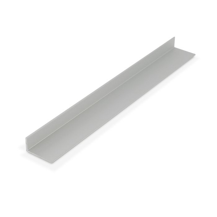 1/2in x 1in x 1/16in Thick | Clear Anodized (Satin) Finish Aluminum Uneven Leg | 90° Angle Moulding | 12ft Length