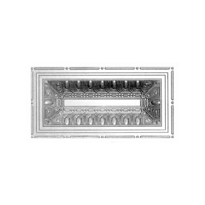 "12"" Wide x 24"" High x 1-1/2"" Deep Steel Lay In Premium Decorative Stamped Steel Ceiling Panel"