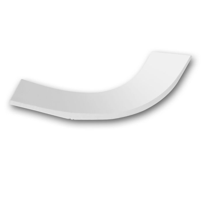 Orac Decor | High Density Polyurethane Foam Crown Moulding | Primed White | 4in Sample Piece