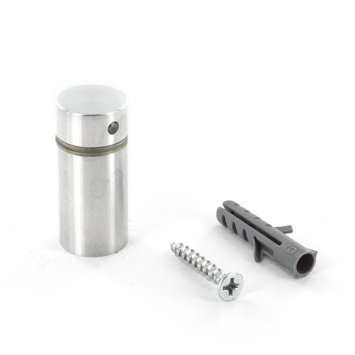 "5/8"" Diameter x 1"" Barrel Length Satin Stainless Steel Finish Premium Aluminum Series Secure Fasten Standoff"