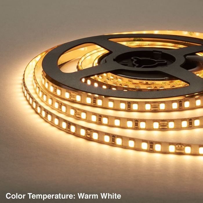 "1/4"" (6mm) Wide LED Tape Flexible Strip Lighting 2835 Chip Warm White 2800K-3000K 3.2 Watts 
