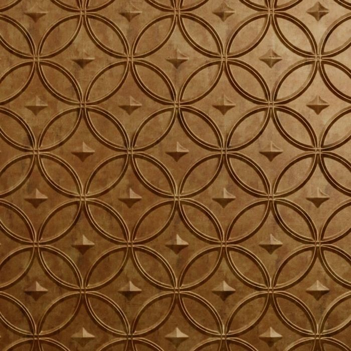 10' Wide x 4' Long Celestial Pattern Muted Gold Finish Thermoplastic Flexlam Wall Panel