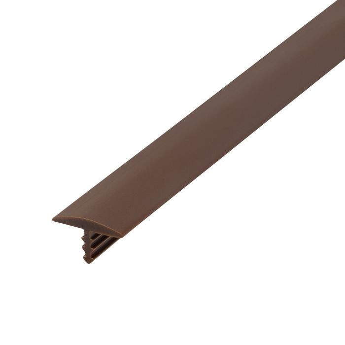 1/2in 315 Brown Flexible Polyethylene | Center Barb Tee Moulding | 250ft Coil