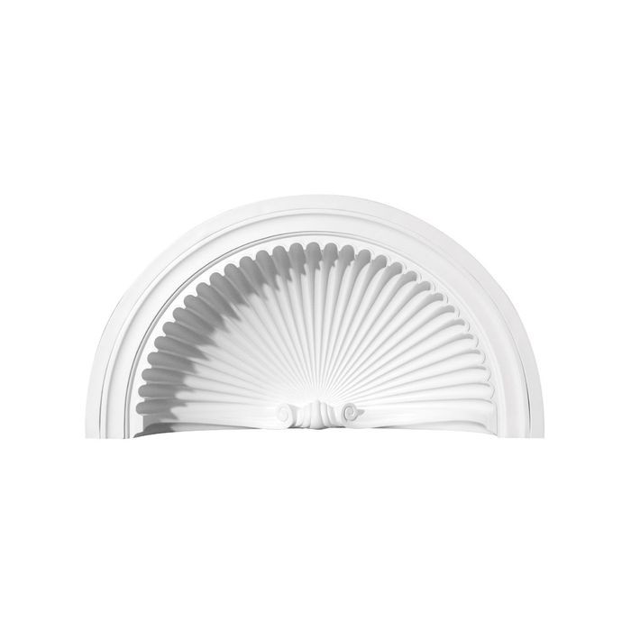 Focal Point | 37-3/16in W x 18-1/4in H | Primed White Polyurethane Shell | Niche Cap | Style 91003